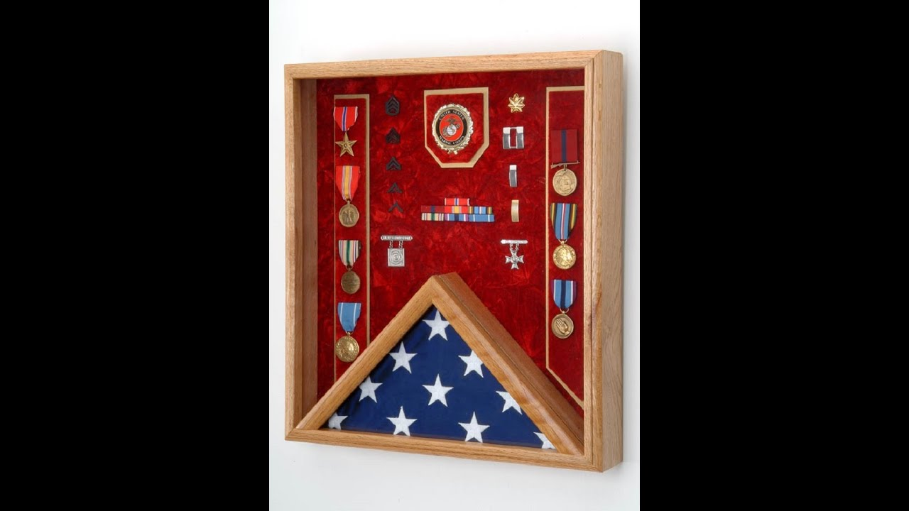 flag display case, military shadow box, medals & awards display case ...