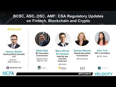 NCFA FFCON18 mainstage 14 csa regulatory updates on fintech