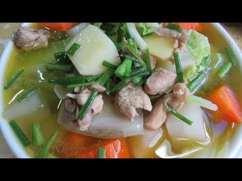 Cooking And Recipe - Chicken Soup With Mix Vegetable By Kimyee Ros Cooking