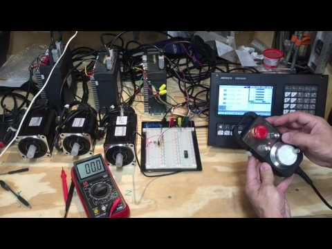 DIY CNC Mill Progress: Motor Brake Connection, AC Servos First Run