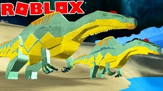 "Dinosaur Simulator (Roblox)-hunting in pairs, family of carnivores ""Spinosaurus""-(#50) (EN-BR)"