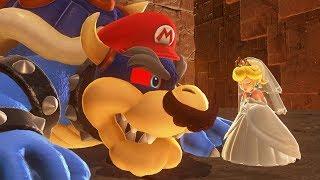 Super Mario Odyssey - Capturing Dark Bowser + Darker Side