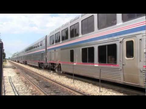 [HD] Amtrak and Metra at Glenview, IL- Empire Builder 7/27 w/ Milwaukee Road PV Cars