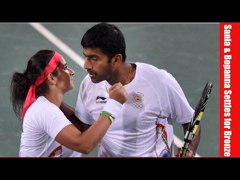 Sania Mirza & Rohan Bopanna Mixed Doubles Bronze Medal Rio Olympics 2016