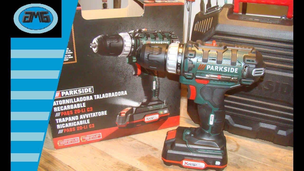 Parkside cordless drill pabs 20 li c3 trapano avvitatore for Trapano avvitatore parkside