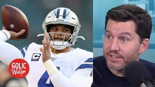 Dak Prescott's contract situation with the Cowboys is getting Will Cain nervous | Golic and Wingo