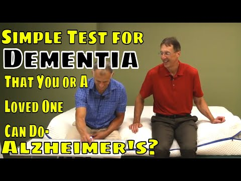 Simple Test For Dementia That You Or A Loved One Can Do- Alzheimer's?