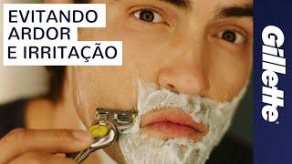 No queimadura de pescoço barbear