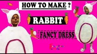 Rabbit pet animal fancy dress tutorial for kids / How to make rabbit / खरगोश/ DIY