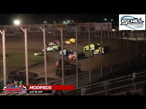 Schill Construction Modified Highlights - July 28th, 2017 - River Cities Speedway