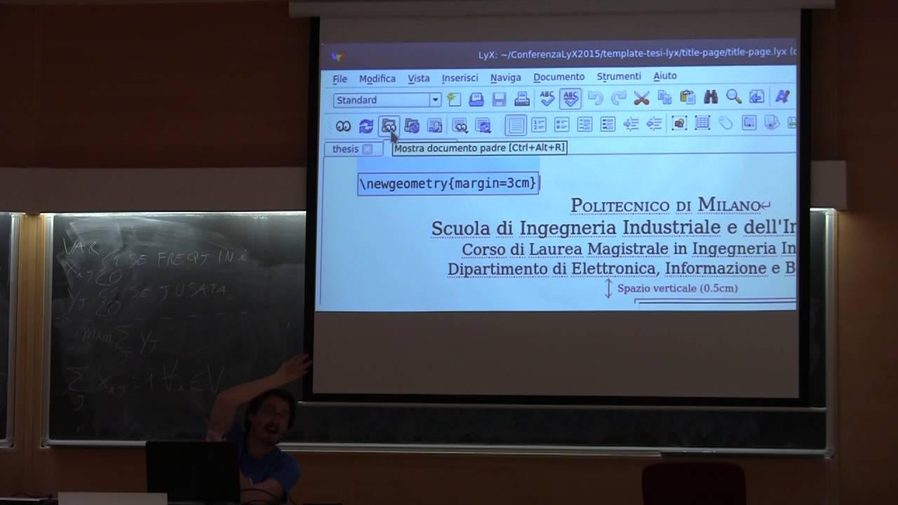corsi lyx 2016 - template di tesi - youtube, Presentation templates