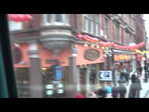 Cambridge Circus, China Town, Shaftesbury Ave, Theatres... to Piccadilly.MP4