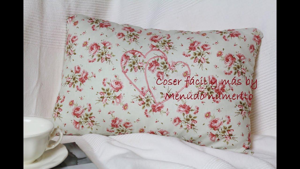 Cómo hacer un cojín vintage sin cremallera   Vintage cushion   YouTube