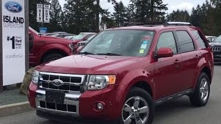 2011 Ford Escape Limited,  Accident Free, One Owner, AWD Review   - Island