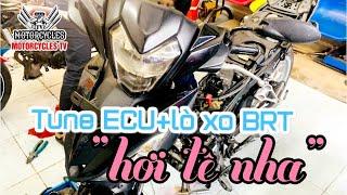 Video 423: Bô Xăng Lửa ECU Zin Vô Lò Xo Đầu Cũng Vui Lăm Đó  Motorcycle TV