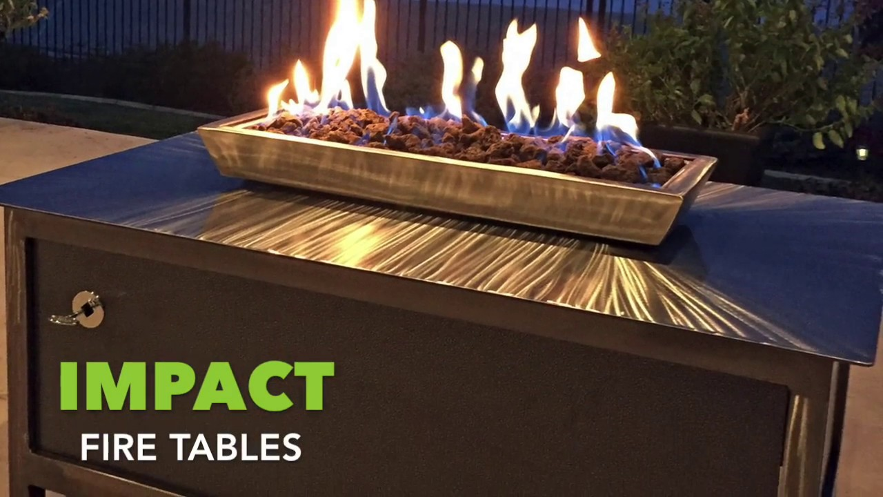 IMPACT Fire Tables Modern. Industrial. Design.