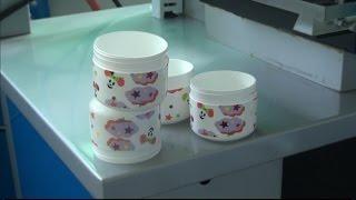 2BC Heat Transfer Machines On Plastic Jar Bottles,Jar Bottle Heat transfer machine