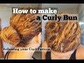 How to Make a Bun - Curly Hair - Work Hair