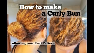 How to Make a Bun - Curly Hair - Work Hair