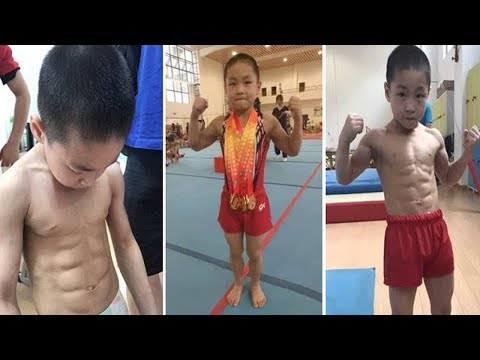7 y.o Muscular Boy has perfect Eight Pack ABS and won six Gold medals in Competition