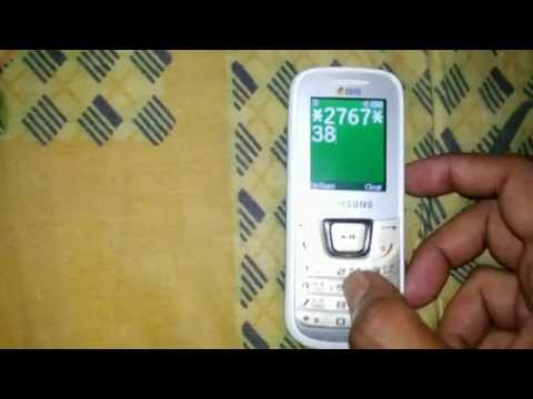 Samsung E1282t factory reset