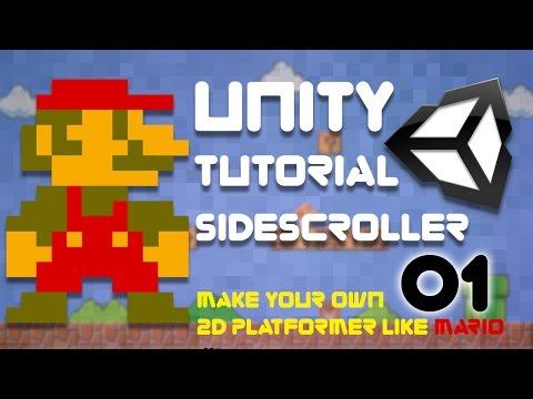 Unity Tutorial -  2D Side Scroller (Super Platformer Bros) Episode 1