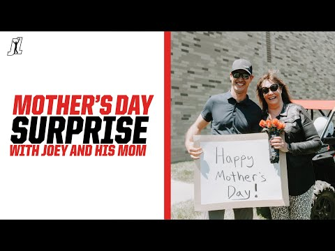 Joey Logano plans a Mother's Day SURPRISE!