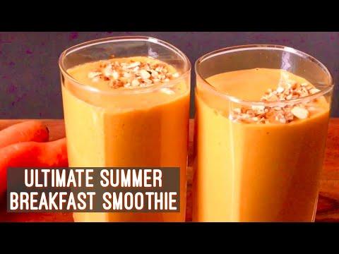 Summer Breakfast Smoothie | Oats Carrot & Mango Smoothie Recipe | Easy Quick Vegan Breakfast Idea