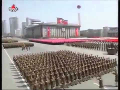 North Korean Military Parade on Kim Il Sungs 100th Birthday - Full video