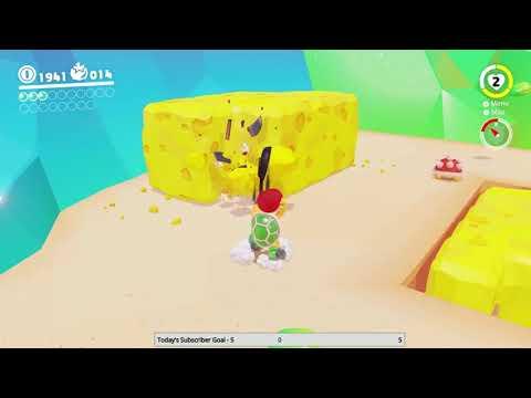Super Mario Odyssey - Luncheon Kingdom Moon #2: Under the Cheese Rocks 🌙