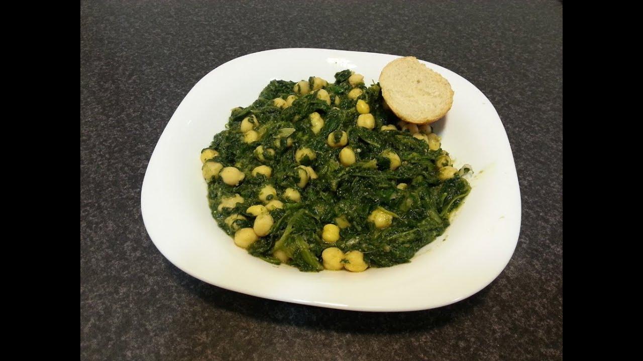 receta para preparar espinacas