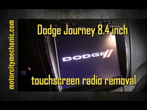 hqdefault 2013 2014 dodge journey 8 4 inch radio removal youtube  at creativeand.co