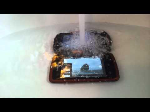 Wassertest Samsung XCover und Utano Barrier T180