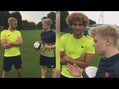 Playing Football with AARON RAMSEY and MAROUANE FELLAINI! - EABskills