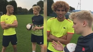 Playing Football with AARON RAMSEY and MAROUANE FELLAINI! - EABskills