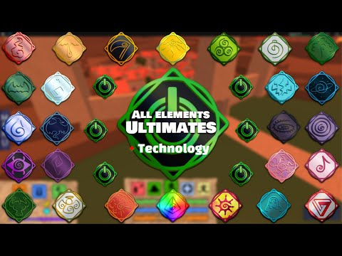 All Elements Ultimates + Technology! | Elemental Battlegrounds Roblox