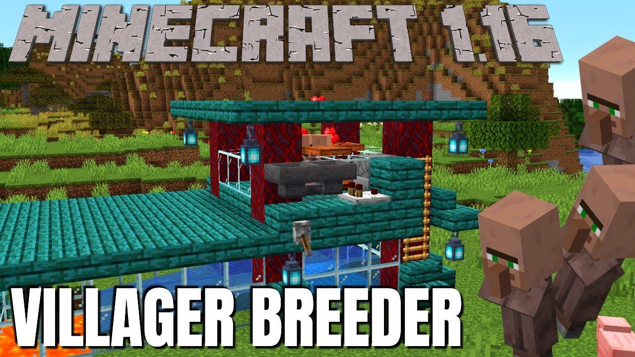 Minecraft 1 16 Villager Breeder How To Make A Villager Breeder In Minecraft 1 16 Survival Tiny Youtube