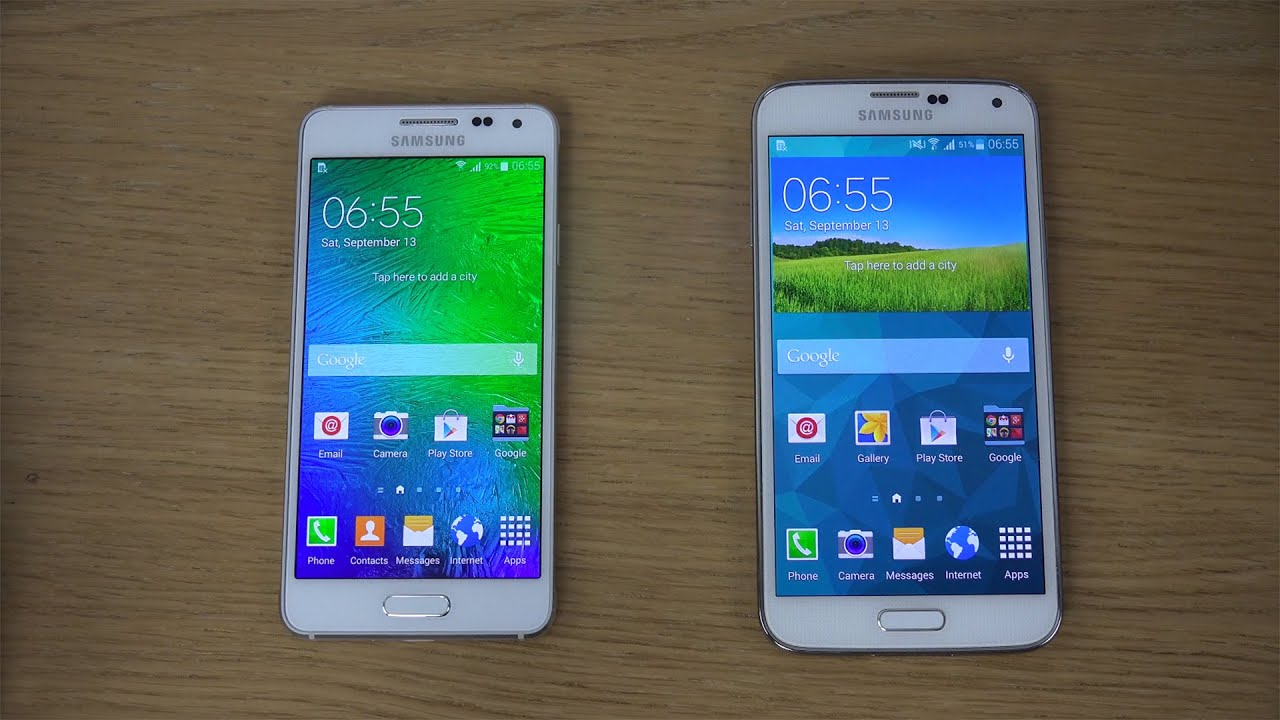 Galaxy Alpha Vs S5 samsung galaxy alpha vs. samsung galaxy s5 - review