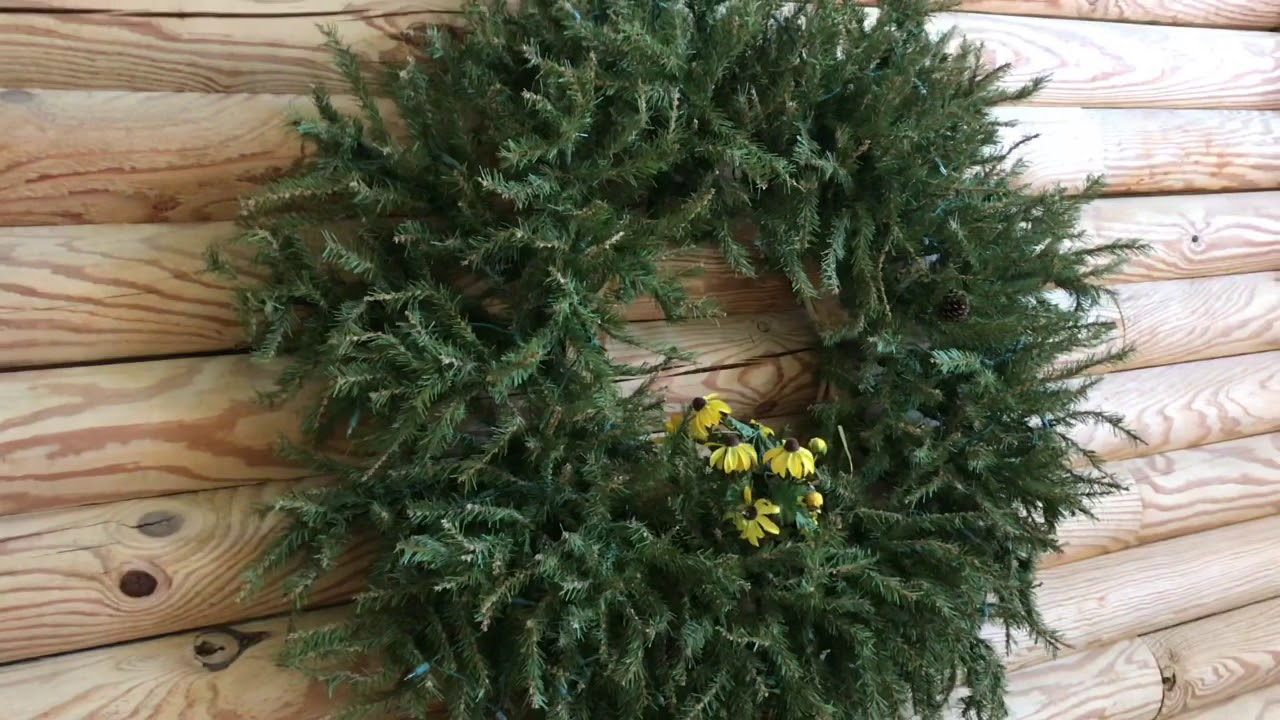 how to UPCYCLE an old christmas tree - YouTube