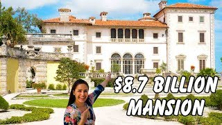Touring an $8.7 BILLION Mansion! @ Vizcaya Museum and Gardens