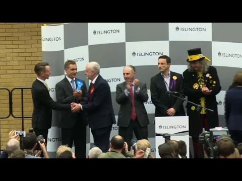 UK election: Jeremy Corbyn re-elected to north London seat ...