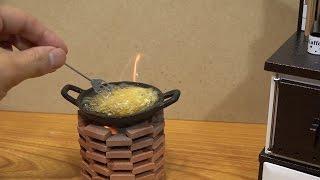 Miniature French fries. mini food 食べれるミニチュア フライドポテト
