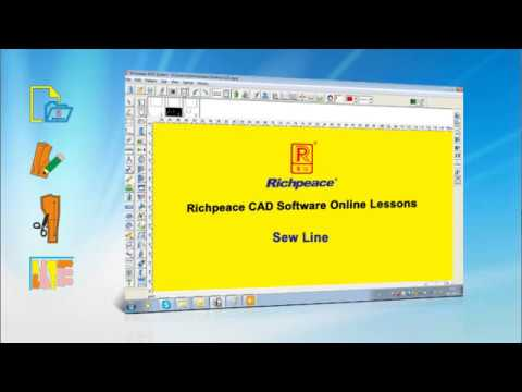 Richpeace CAD Software Online Lessons --Tip of the day-- Sew Line