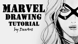 Ms. Marvel Drawing Tutorial / Рисуем Мисс Марвел / DA