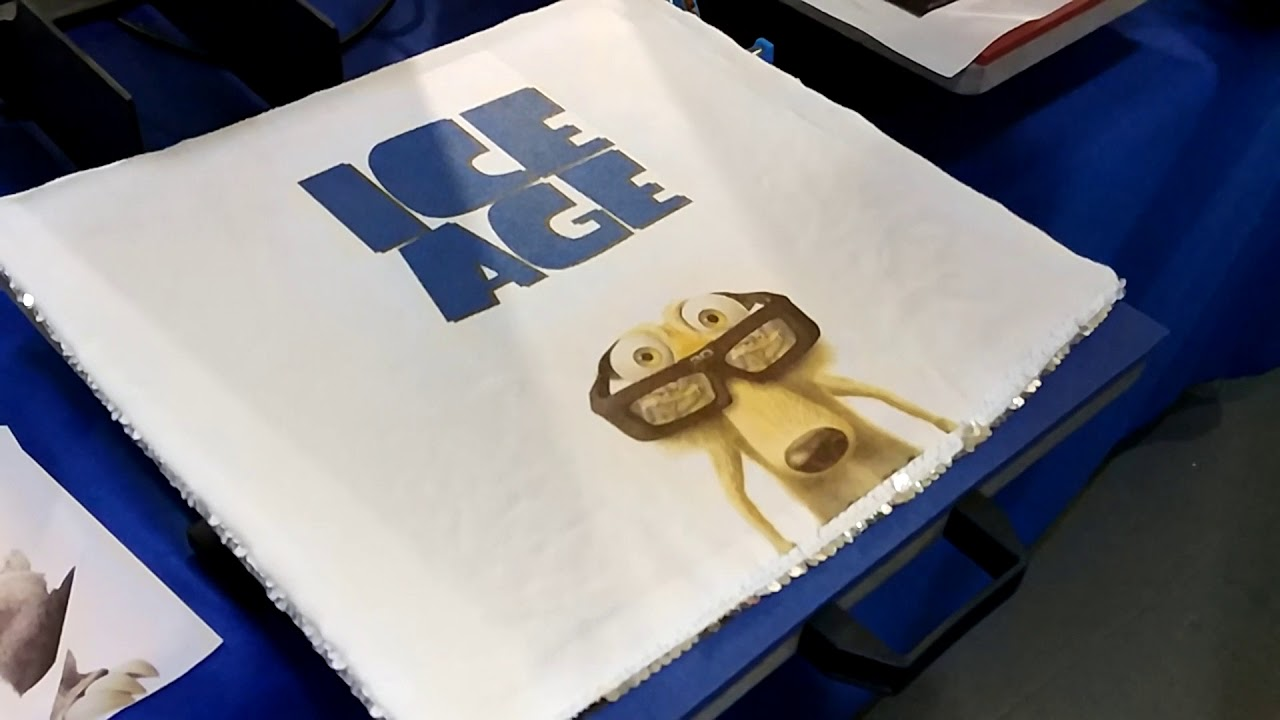 Sublimation printing on sequin pillow case