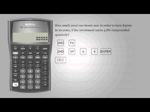 Present value – Texas Instruments BA II PLUS