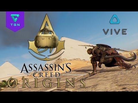 Assassins Creed Origins con las gafas VR HTC VIVE