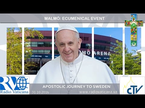 2016.10.31 Pope Francis in Sweden - Ecumenical event with the World Lutheran Federation