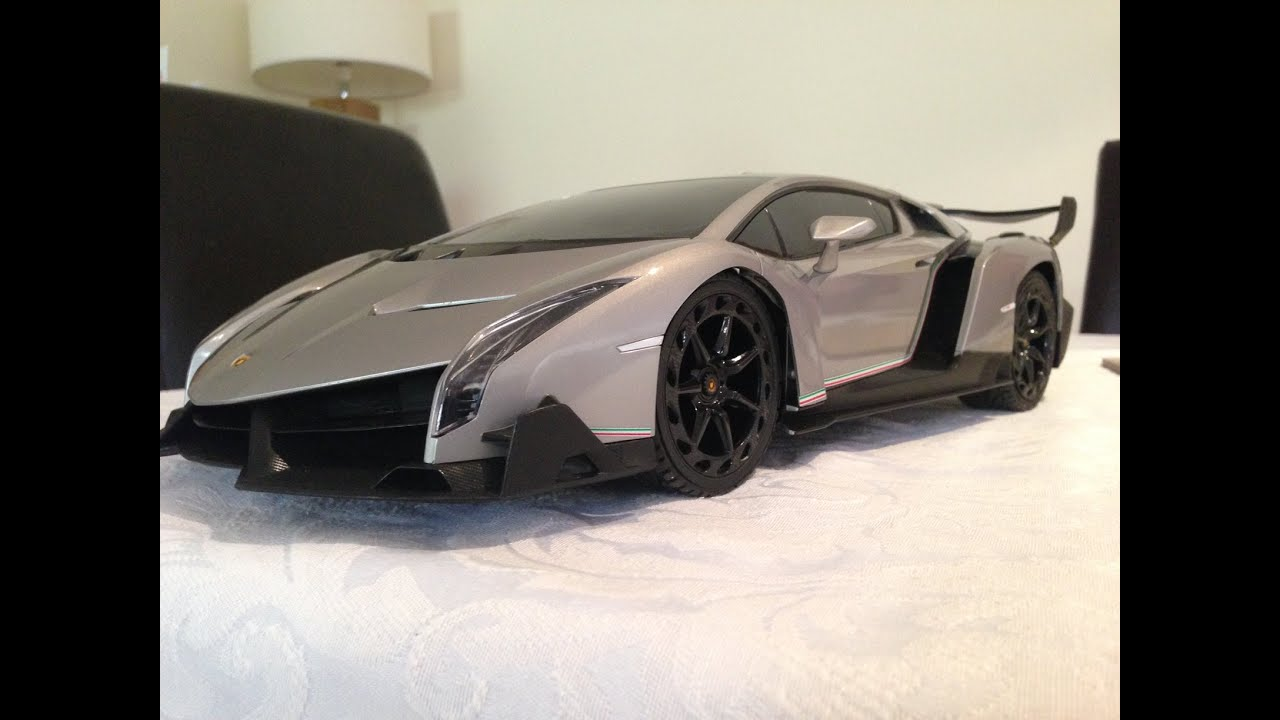 Lamborghini veneno rc qx 1 12 youtube for Bureau cars toys r us