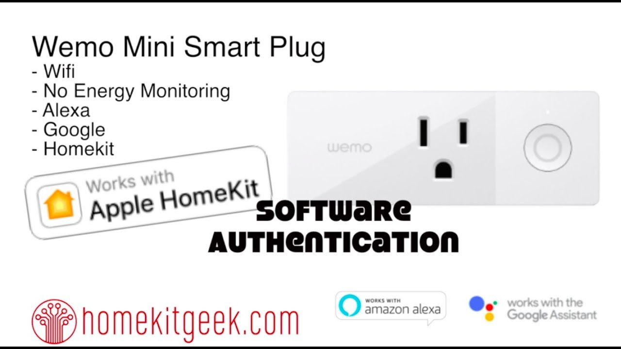 Wemo Mini Plug proves Homekit Software Authentication works
